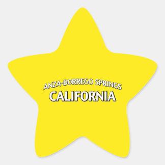 Anza-Borrego salta California Pegatina En Forma De Estrella