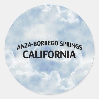 Anza-Borrego salta California Pegatina Redonda