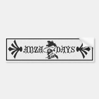 Anza Days bumper sticker Car Bumper Sticker