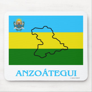 Anzoátegui Flag with Name Mouse Pad