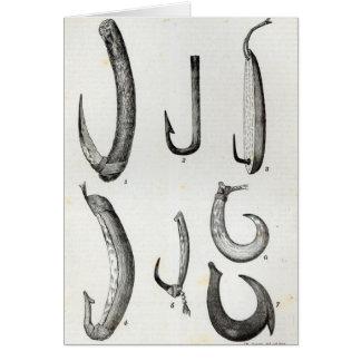 Anzuelos de prehistórico y de incivilizado tarjeta de felicitación