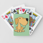 AO- Cute Funny Yellow Labrador Playing Cards