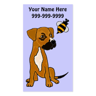 AO- Cute Puppy Dog and Bee Business Card
