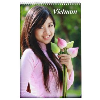 Ao Dai Vietnam Calendar