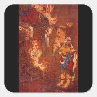 Ao Fudo: Portion Showing_The Orient Square Sticker