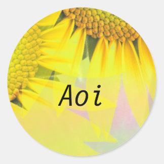 Aoi Classic Round Sticker