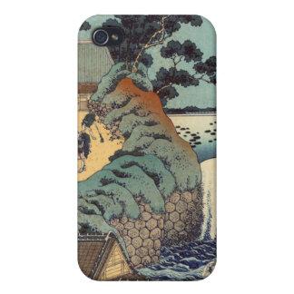 Aoi gaok waterfall, Katsushika Hokusai iPhone 4 Case