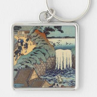 Aoi gaok waterfall, Katsushika Hokusai Keychain