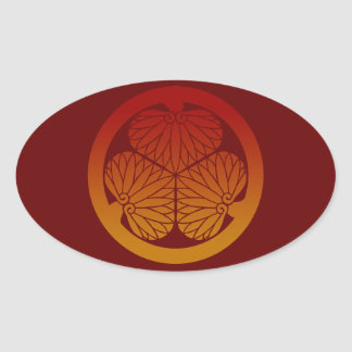 Aoi gradation 2 oval sticker