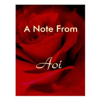 Aoi Postcard