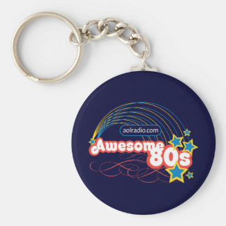 AOL Radio - Awesome '80s Basic Round Button Keychain