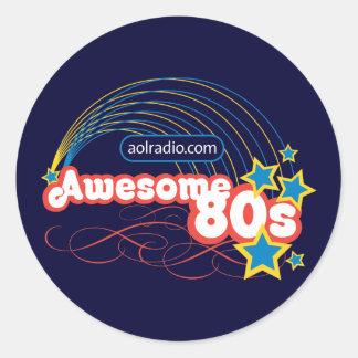 AOL Radio - Awesome '80s Classic Round Sticker