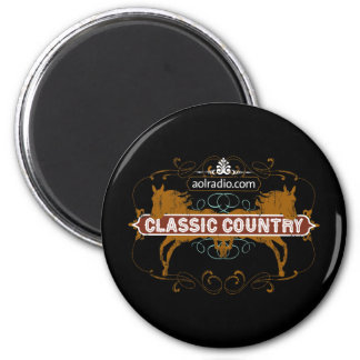 AOL Radio - Classic Country 2 Inch Round Magnet