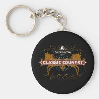 AOL Radio - Classic Country Basic Round Button Keychain