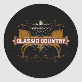 AOL Radio - Classic Country Classic Round Sticker
