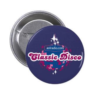 AOL Radio Classic Disco 2 Inch Round Button