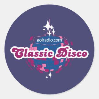 AOL Radio Classic Disco Classic Round Sticker