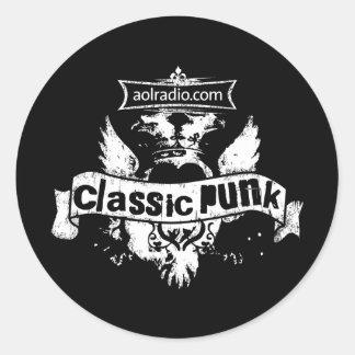 AOL Radio - Classic Punk Classic Round Sticker