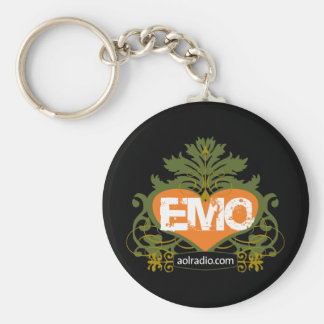 AOL Radio Emo Basic Round Button Keychain
