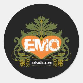 AOL Radio Emo Classic Round Sticker