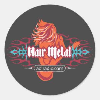 AOL Radio - Hair Metal Classic Round Sticker