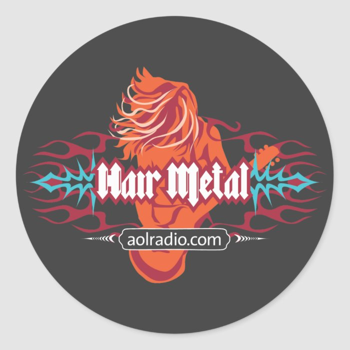 AOL Radio - Hair Metal Classic Round Sticker