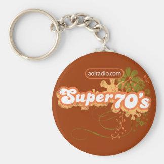 AOL Radio - Super '70s Basic Round Button Keychain