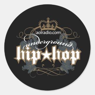 AOL Radio - Underground Hip-Hop Classic Round Sticker