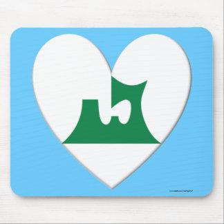 Aomori Prefecture Flag Heart Mouse Pad