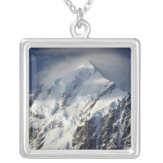 Aoraki Mount Cook, Mackenzie Country, South Silver Plated Necklace