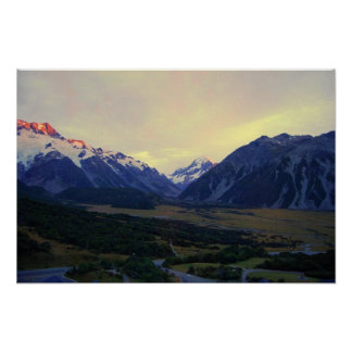 Aoraki/Mount Cook, New Zealand, at Sunrise Poster