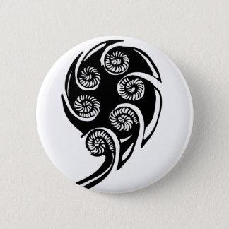aotearoa koru design pinback button