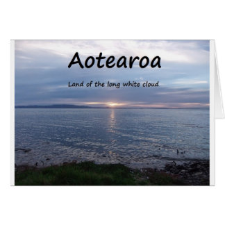 Aotearoa Land of the Long White Cloud Greeting Card