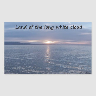 Aotearoa Land of the Long White Cloud Rectangular Sticker