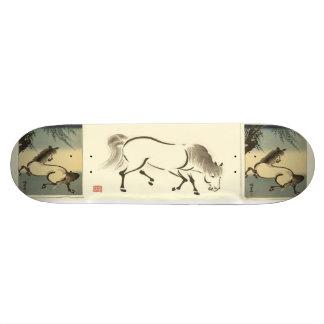 Aoyama Horses Japanese Art Skateboard. Beautiful Skateboard Deck
