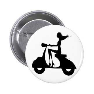 AP028 Girl Scooter Button