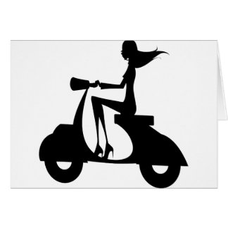 AP028 Girl Scooter Card
