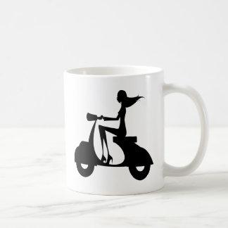 AP028 Girl Scooter Coffee Mug