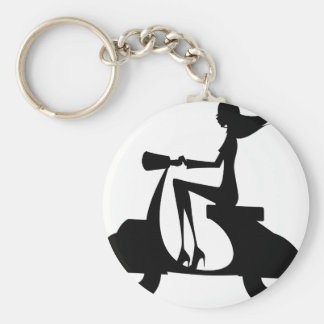 AP028 Girl Scooter Keychain