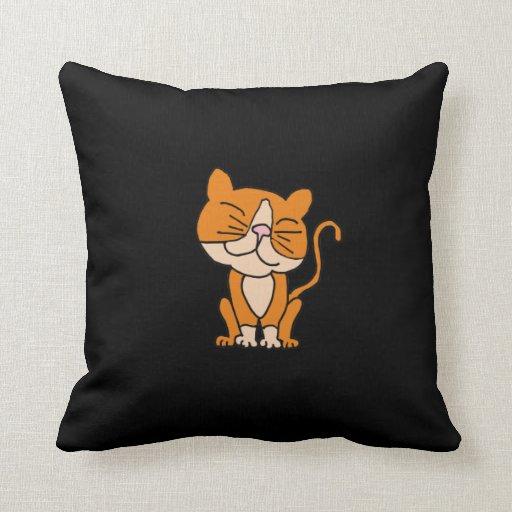 AP- Awesome Orange Kitty Cat Pillow