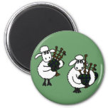 AP- Awesome Sheep Playing Bagpipes 2 Inch Round Magnet