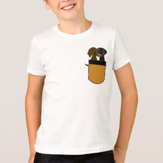 AP- Flatcoated Retrievers in a Pocket Shirt