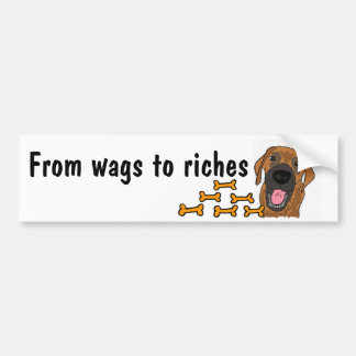 AP- From wags to riches bumper sticker