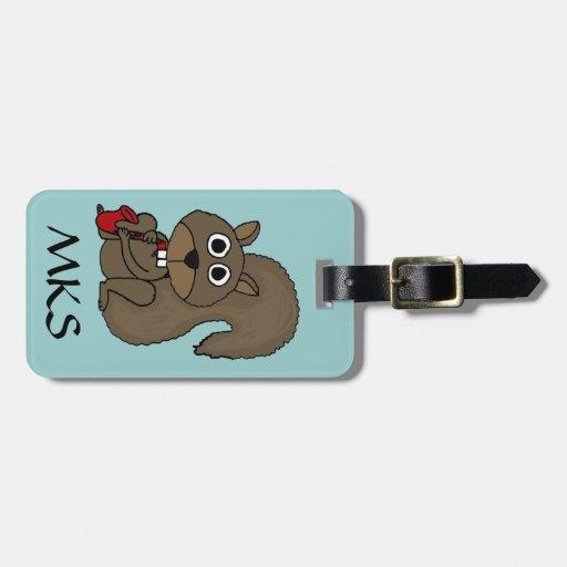 AP- Funny Squirrel Luggage Tags