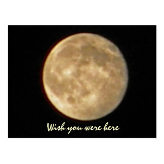 AP- Funny Wish you were here moon postcard
