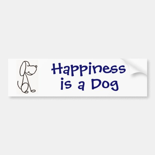 AP- Happiness is a Dog Bumper Sticker
