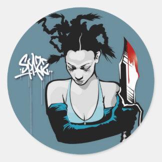 AP-mary-SPAZZ- Classic Round Sticker