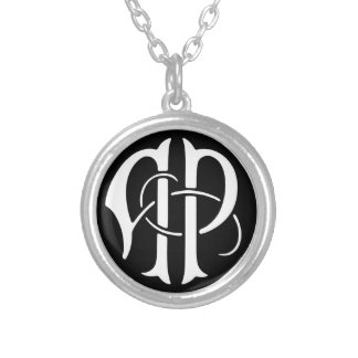 AP Monogram Silver Plated Necklace
