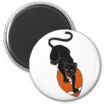 AP- Panther on a Football Art Design 2 Inch Round Magnet