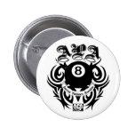 APA 8 Ball Gothic Design 2 Inch Round Button